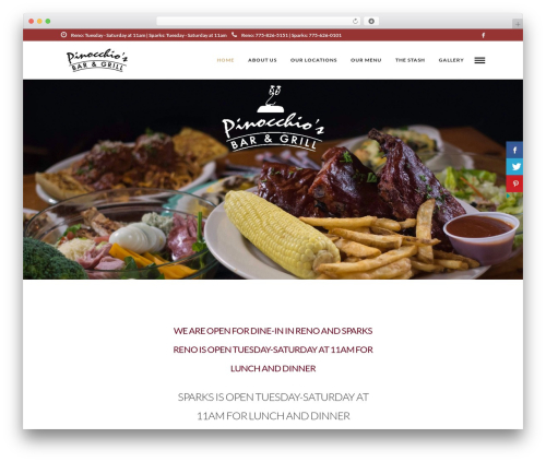 Grand Restaurant best restaurant WordPress theme - pinocchiosbarandgrill.com