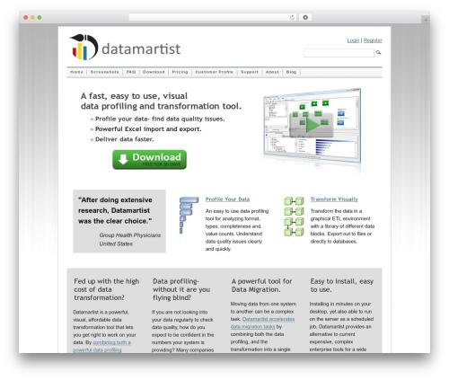 Mimbo theme WordPress - datamartist.com