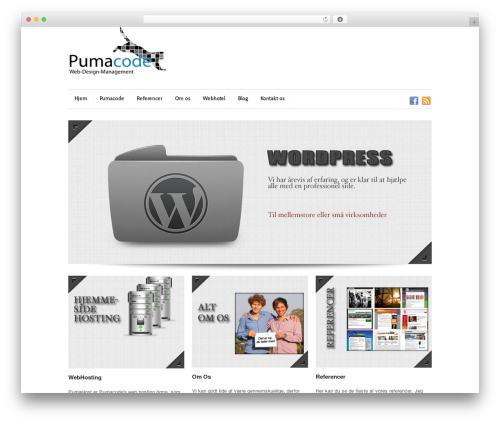 Super Skeleton WordPress website template - pumacode.dk