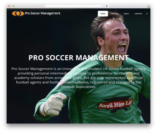 Theme WordPress Jupiter - prosoccermanagement.com