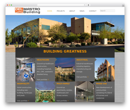 Twenty Fifteen free WordPress theme - delmastrobuilding.com