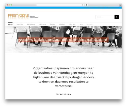 WP theme Avada - prestazione.nl