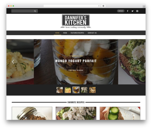 Yorkpress best WordPress template - danniferskitchen.com