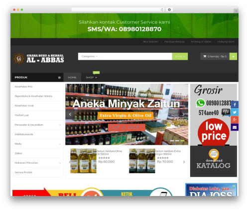 BigBoom top WordPress theme - pusatherbalmalang.com
