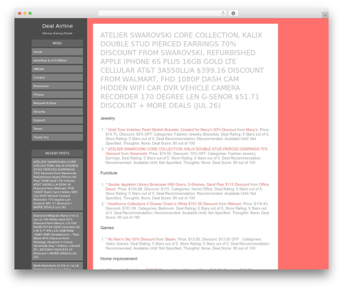 Blogly Lite free WordPress theme - dealairline.com