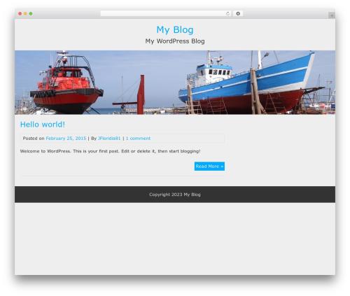 BlueGray WordPress theme free download - joefloridia.com