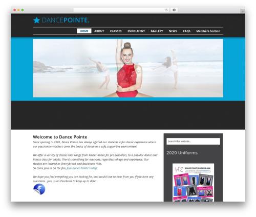 Catalyst WordPress theme - dancepointe.com.au