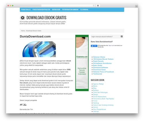 Genbu WordPress template - duniadownload.com