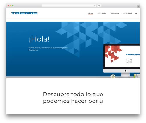 Jupiter WordPress website template - trierre.es