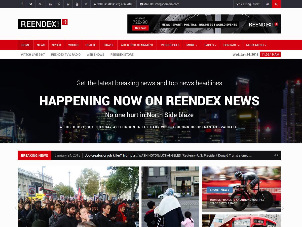 Reendex WordPress news template