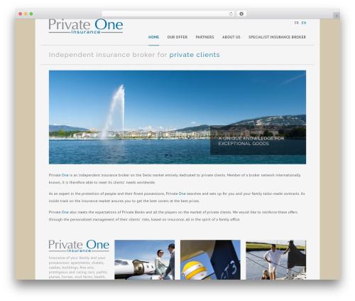 Rework WP theme - privateone.ch
