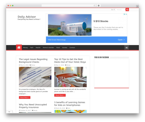 Sahifa (shared on wplocker.com) top WordPress theme - dailyadvisor.net