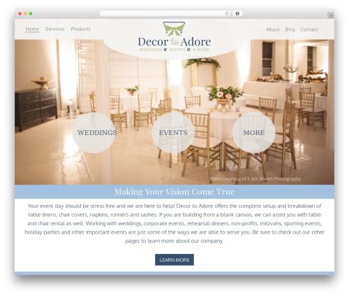 WordPress theme Decor To Adore - decortoadore.com