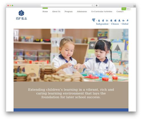 WordPress page-builder plugin - preschool.isf.edu.hk