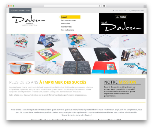 Agence Oz Demo WordPress theme - dalou.com