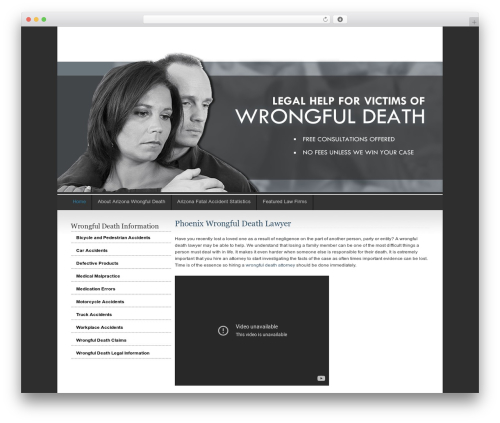 Ashford WordPress theme - phoenixwrongfuldeathattorney.net