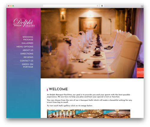 BeautySpot best wedding WordPress theme - delphibanquets.com