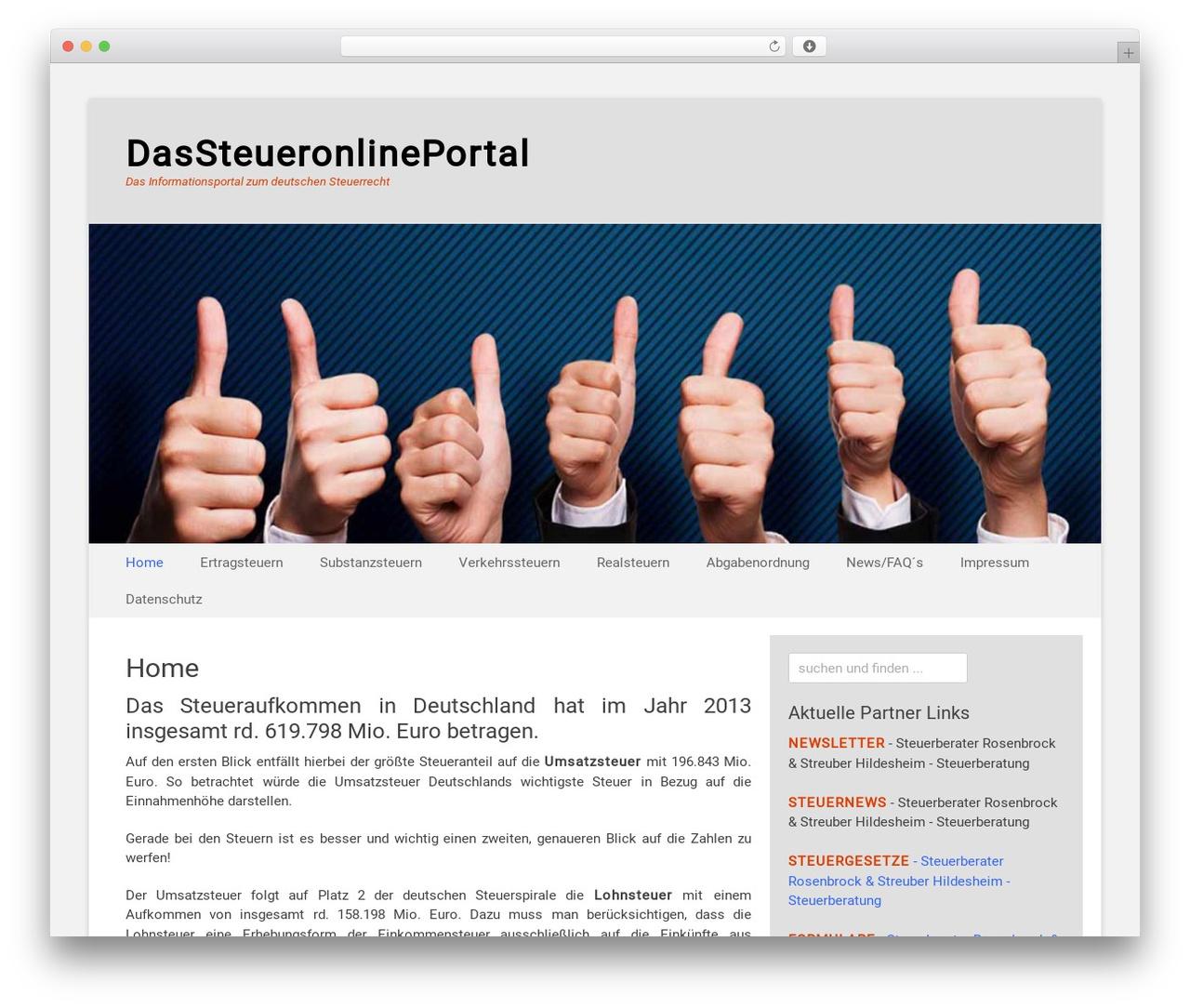 Catch Base Pro WordPress theme - dassteueronlineportal.de