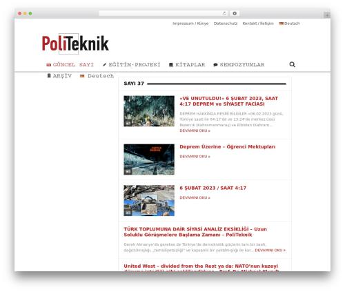 Goodnews Child WordPress news template - politeknik.de