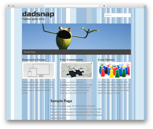 Gridiculous free WP theme - dadsnap.com