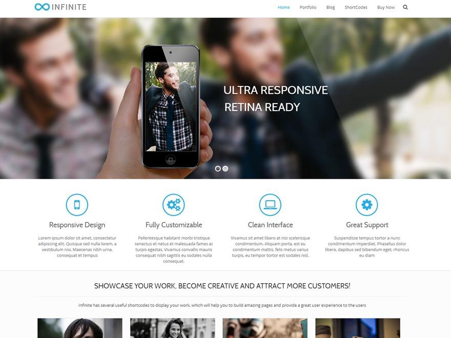Infinite Pro Child best portfolio WordPress theme