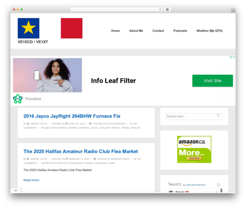 Responsive WordPress template - ddentremont.com