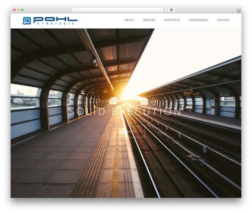 Visia WordPress template for business - pohlstrategic.com