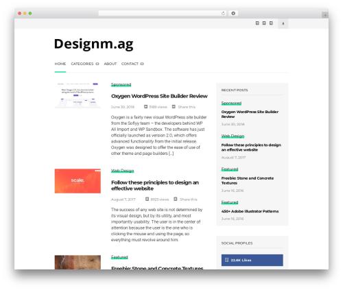 Wonderwall Magazine premium WordPress theme - designm.ag