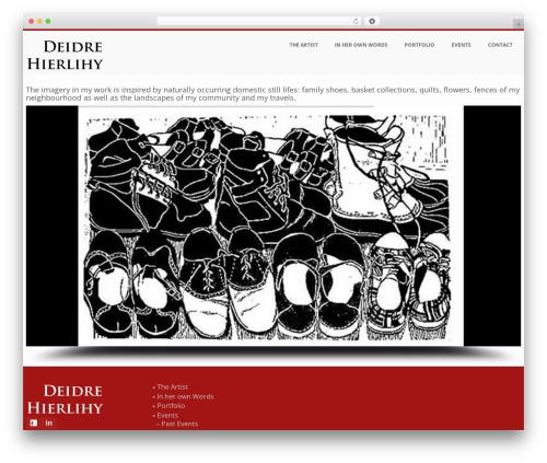 WordPress website template BUILDER THEME - deidrehierlihy.com