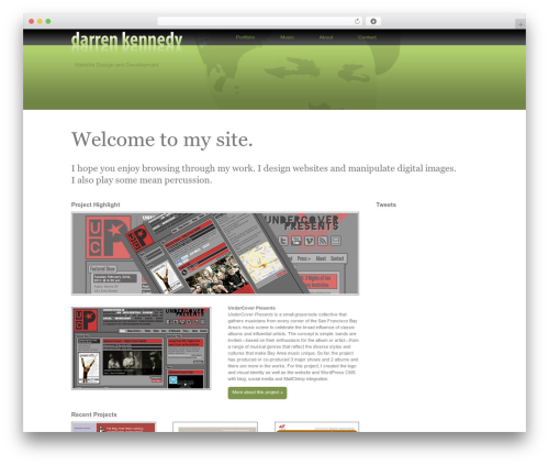 BLANK Theme theme WordPress - darrenkennedy.com