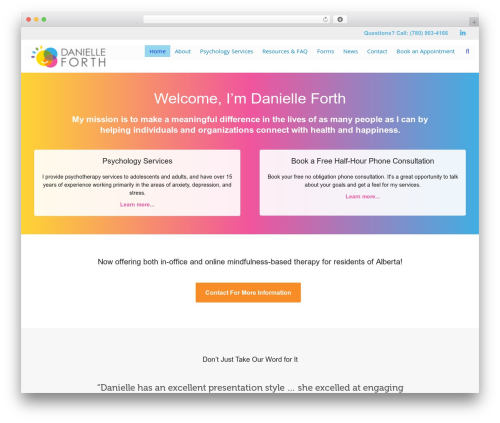 Dante WordPress ecommerce theme - danielleforth.com