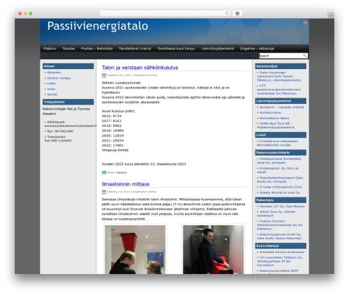 Eximius WordPress theme design - passiivienergiatalo.com
