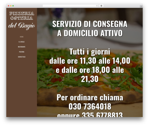 Jupiter WordPress theme - pizzeriaosteriabagio.it