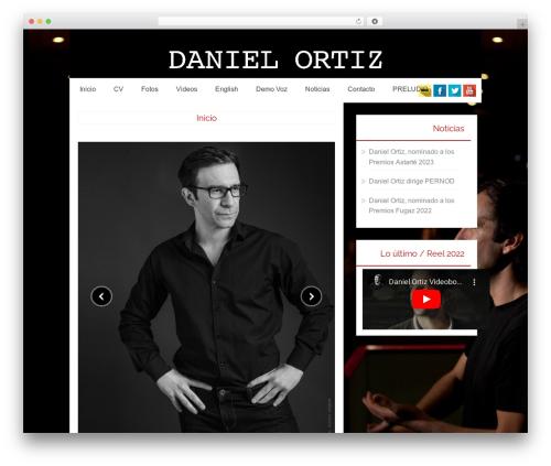 Osiris WordPress website template - daniel-ortiz.info