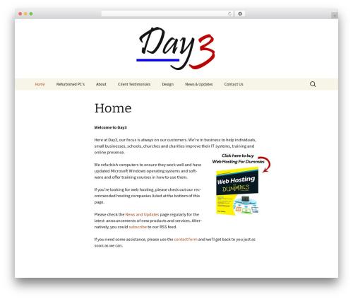 Twenty Thirteen WordPress theme download - day3.co.uk