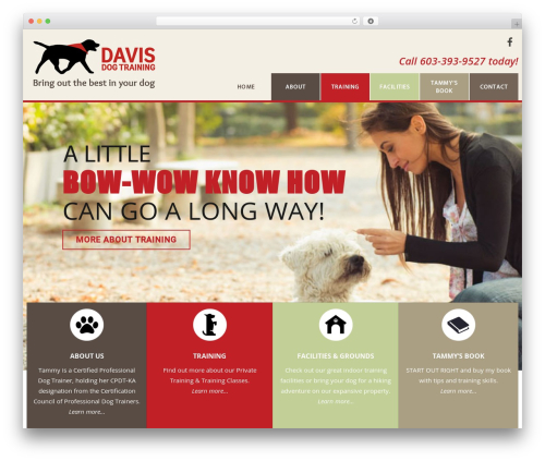 Veda WordPress theme - davisdogtraining.org