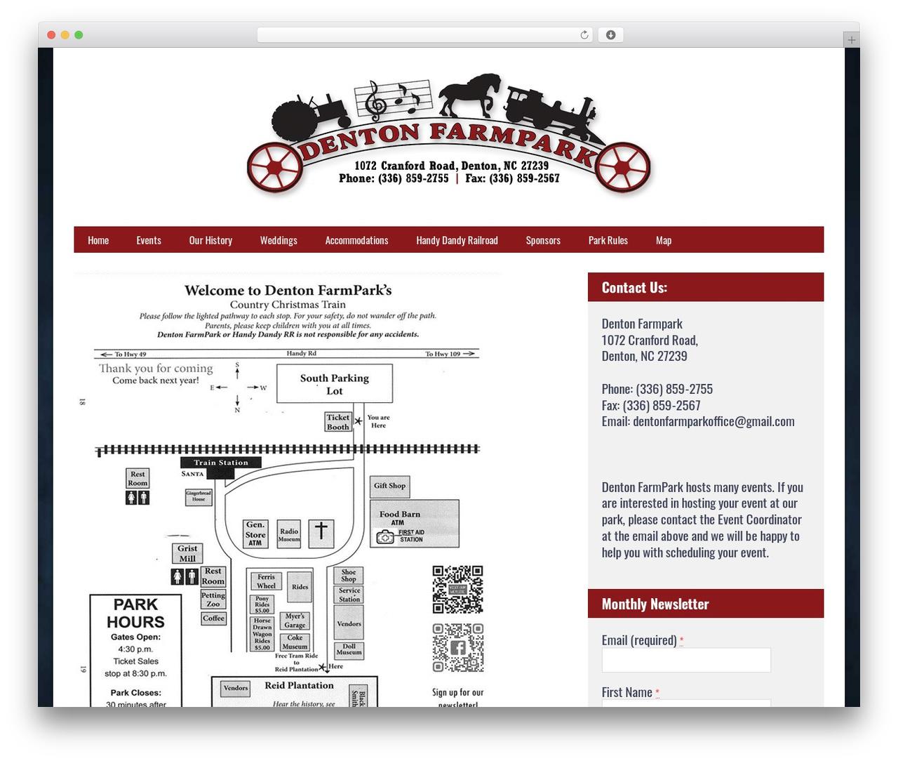 wordpress website template denton farmpark dentonfarmparkcomcountry christmas train - Christmas Train Denton Nc