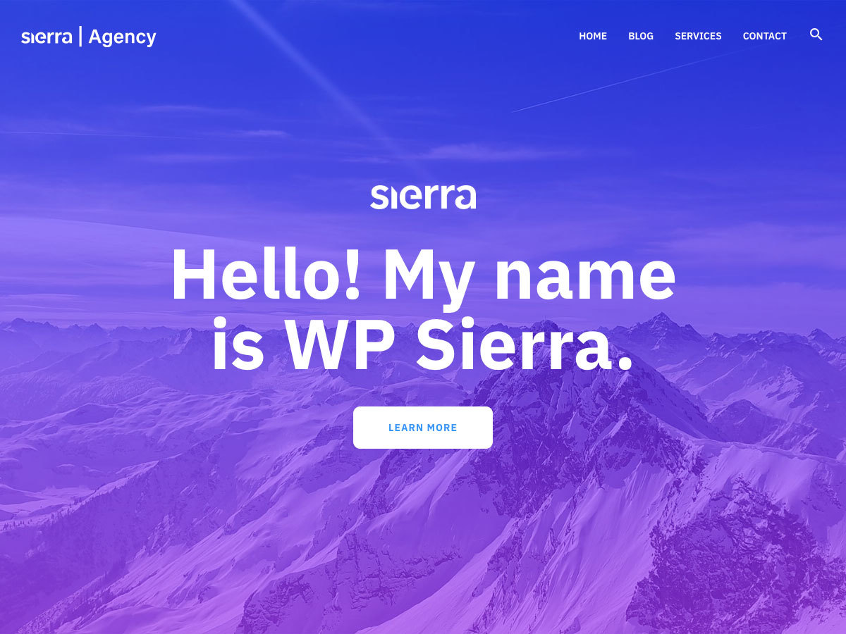 WP Sierra WordPress blog theme