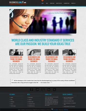 D5 Business Line photography WordPress theme