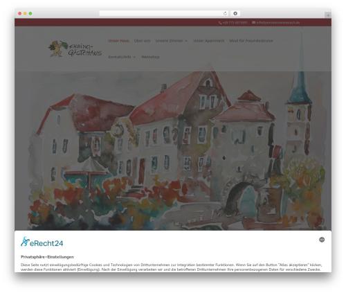 Divi premium WordPress theme - pensionsommerach.de