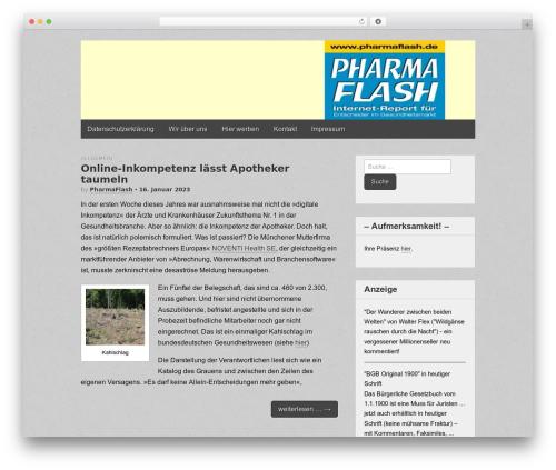 Gridiculous WordPress theme - pharmaflash.de
