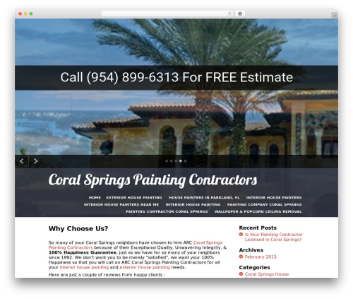 I Am One WordPress theme design - painting-contractors-coral-springs.com