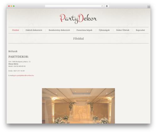 Klasik WordPress website template - partydekor.hu