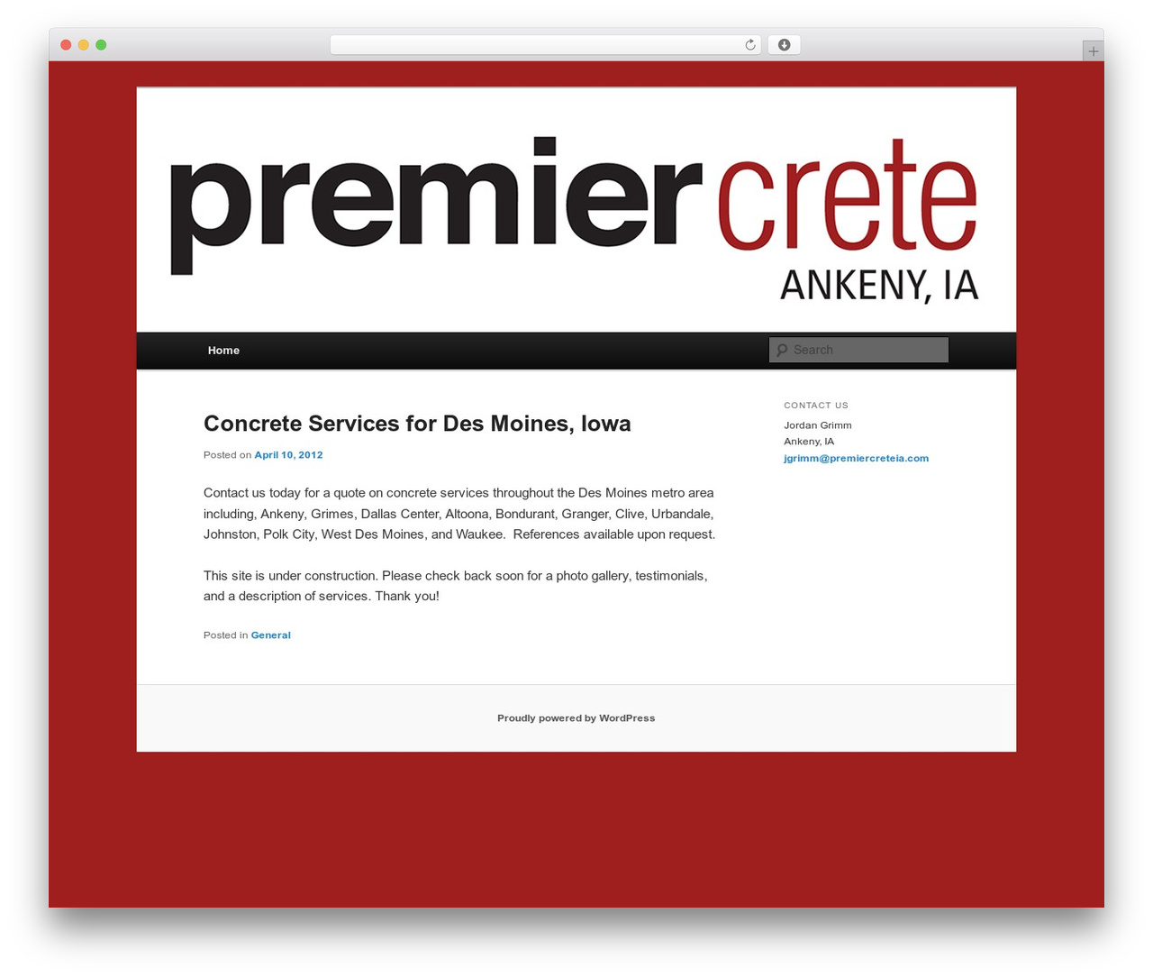 Twenty Eleven free website theme - premiercreteia.com