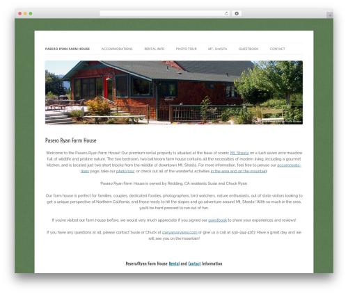 Twenty Twelve template WordPress free - paseroryanfarmhouse.com