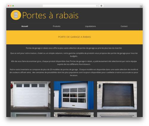WordPress template SmartShop - portedegaragearabais.com