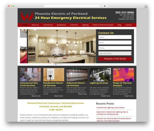 WordPress website template Phoenix - phoenixpdx.com