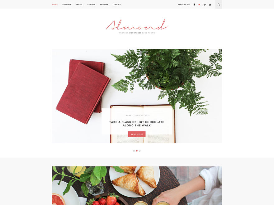 Almond WordPress blog theme