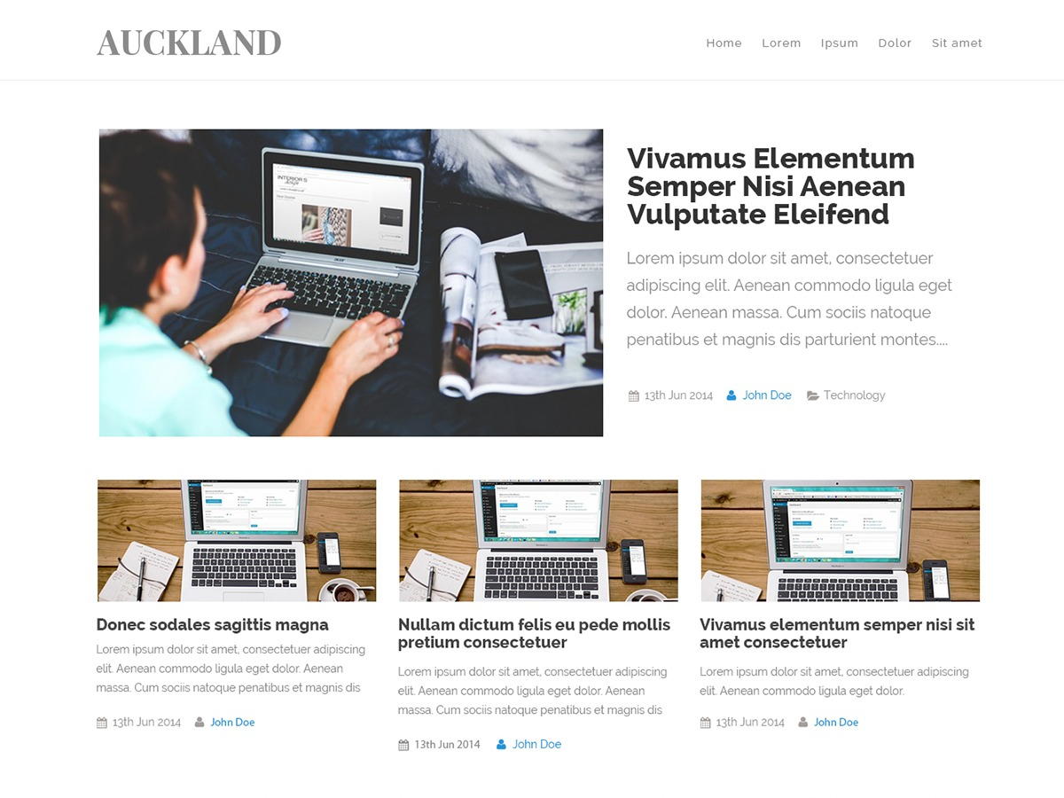Auckland WordPress template free