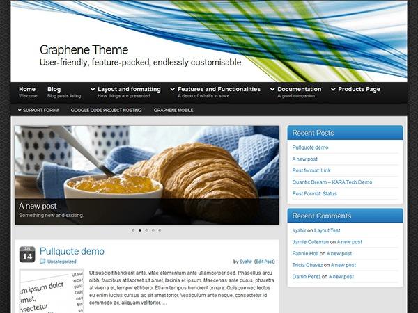 Best WordPress template Graphene